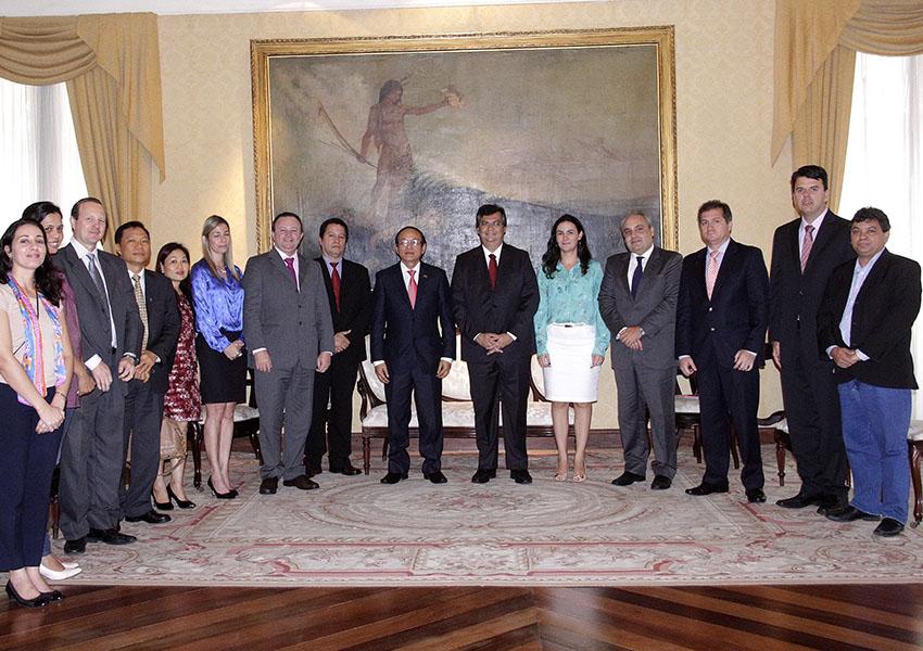 Reunião do Governo do Maranhão com comitiva estrangeira da Ásia. São Luís-MA | Government of Maranhão meeting with Asian diplomatic delegation