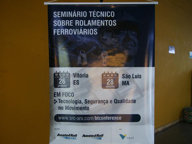 Seminário Técnico sobre Rolamentos Ferroviários – Amsted Rail/Vale VALE - São Luís – MA – Technical seminar on railway bearings.
