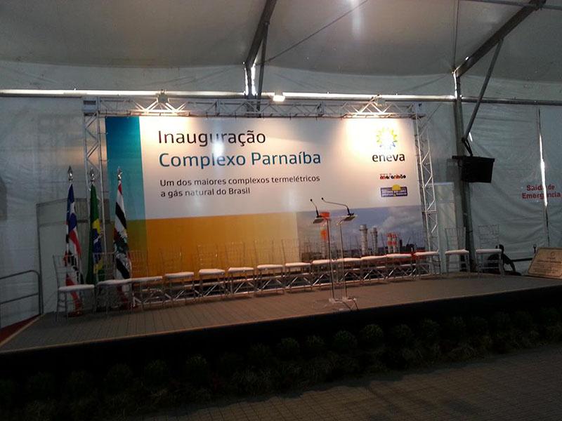 Tradução simultânea durante inauguração da termoelétrica da Eneva Santo Antonio dos Lopes-MA | Innauguration ceremony of Eneva thermoelectric plant